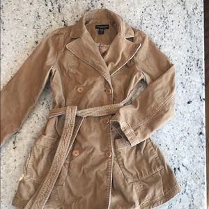 Abercrombie & Fitch corduroy trench coat